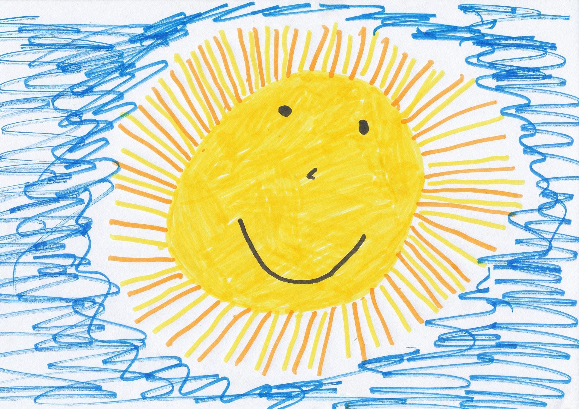 Sonne, gemalt