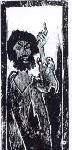 Ausschnitt aus Otto Pankoks Bild von Johannes dem Täufer (mit freundlicher Genehmigung der Otto Pankok Gesellschaft)