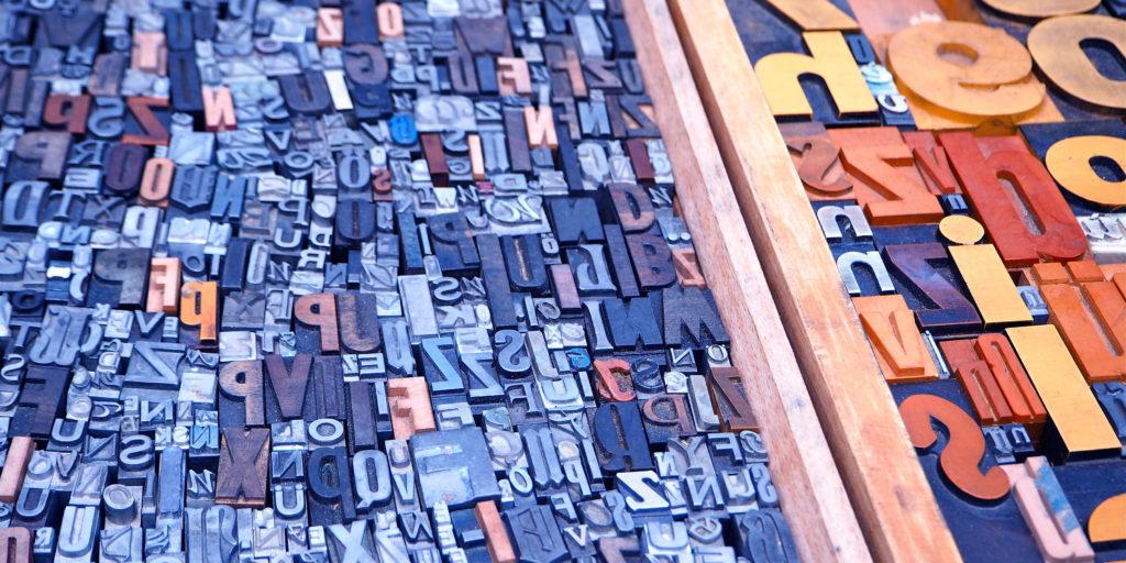 Buchstabenmosaik
