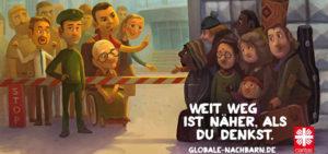 Mit ihrer Jahreskampagne 2014 macht die Caritas auf Missverhältnisse im globalen Miteinander aufmerksam (Bild: globale-nachbarn.de)