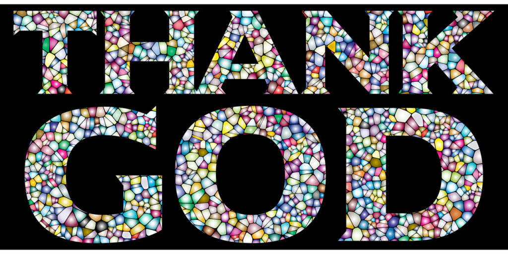 """Thank God"" in Mosaiksteinchen"