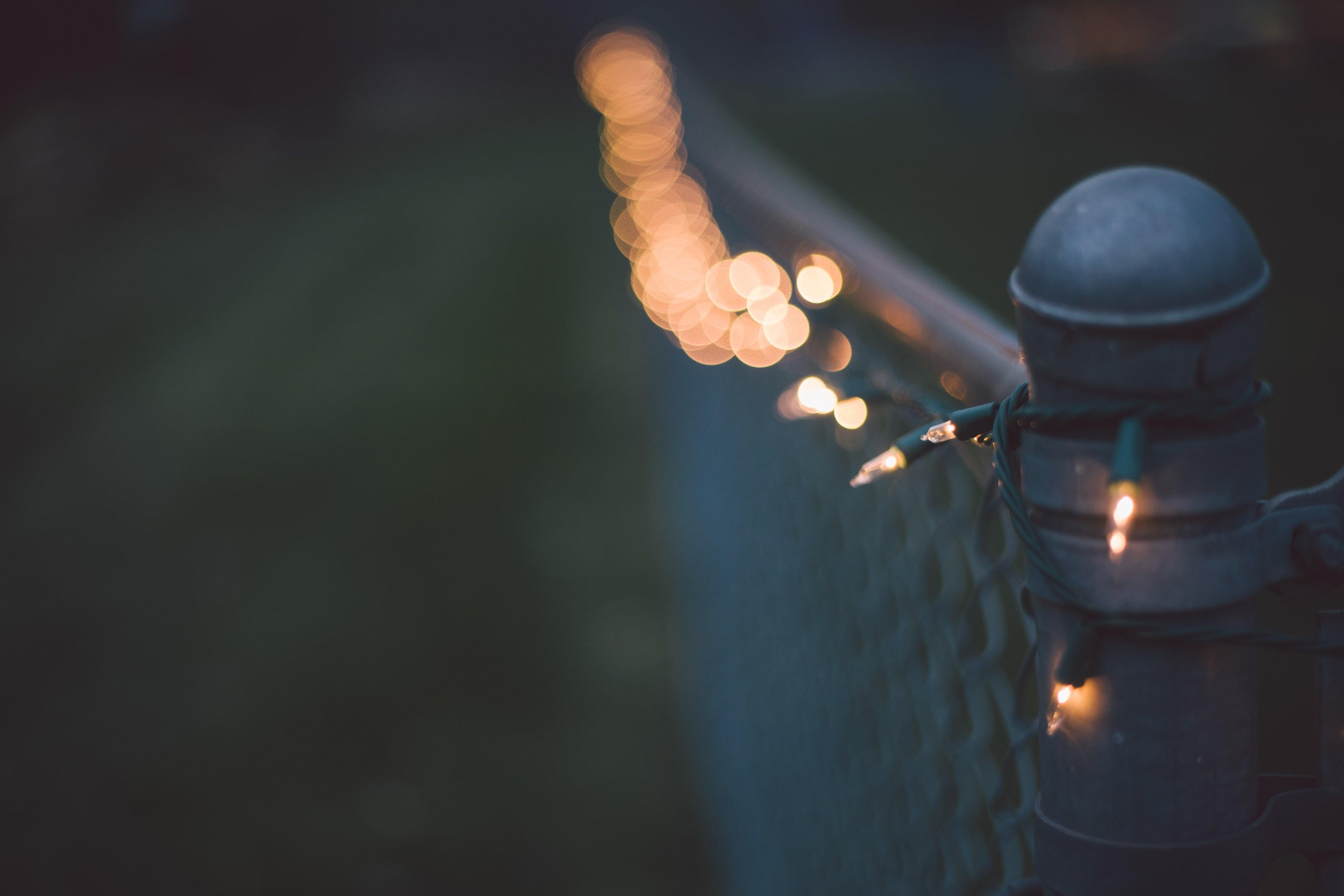 Lichterkette am Zaun