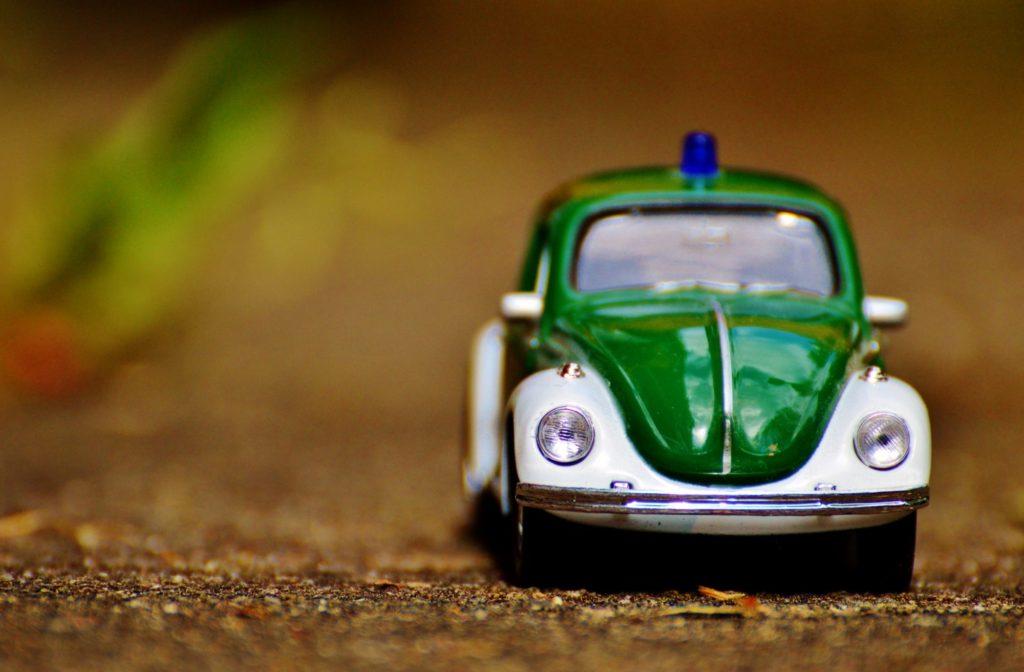 Miniatur-Polizeiauto