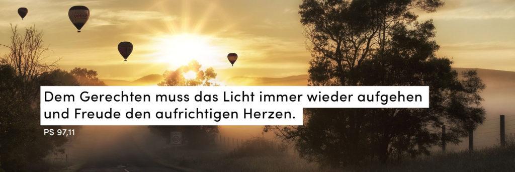 Sonnenaufgang, Heißluftballon, Landschaft