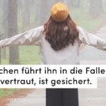 Schirm, Weg, Frau
