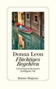 """Cover """"Flüchtiges Begehren (der Jubiläumsfall)"""" von Donna Leon"""