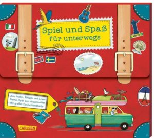 """Cover """"Buchset in Koffer-Form"""" von Spiel und Spaß für unterwegs"""