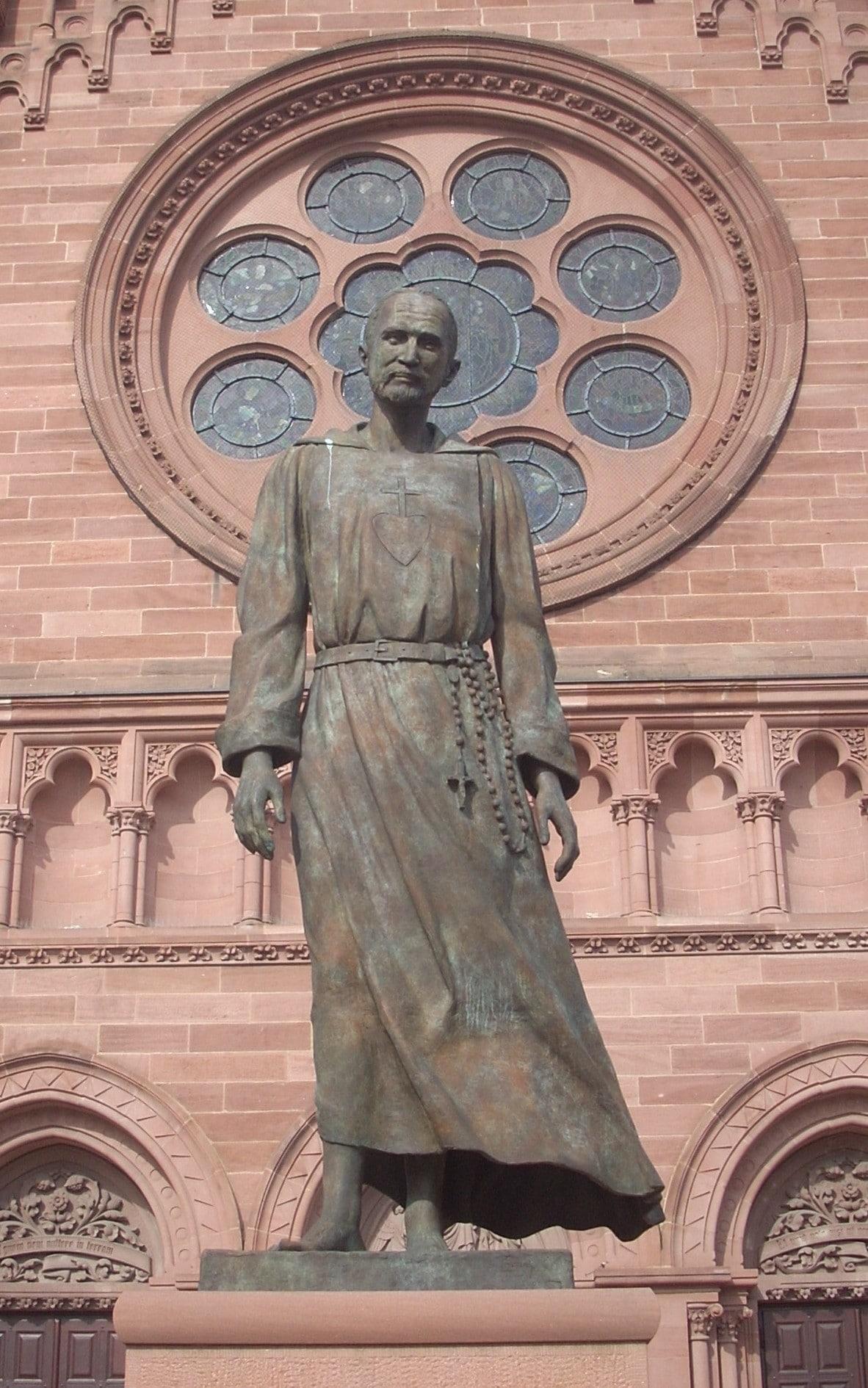Das Denkmal von Charles de Foucauld in Straßburg