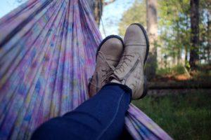 Füße in der Hängematte