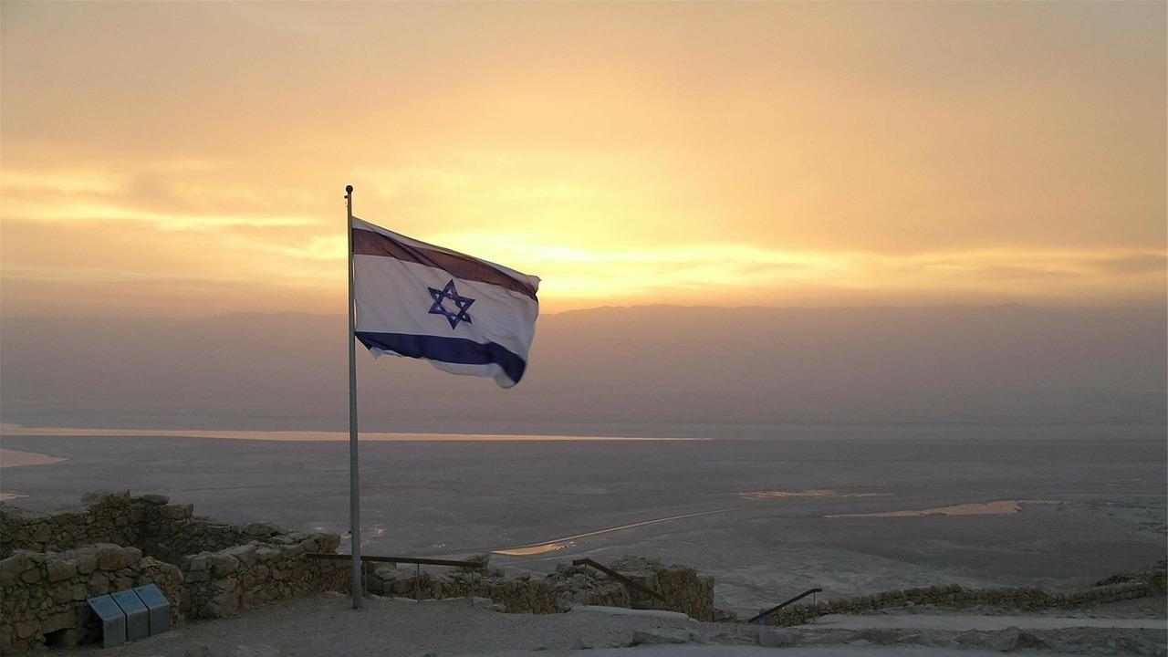 Flagge über Israel