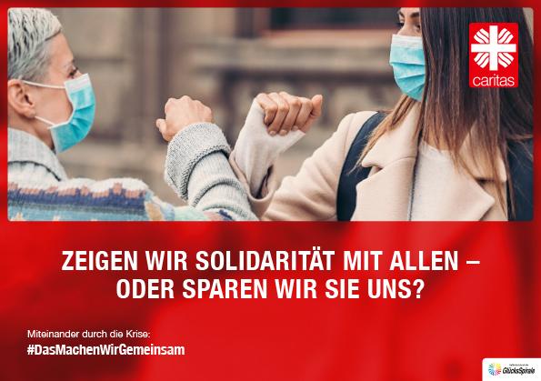 Plakat der Caritas Kampagne