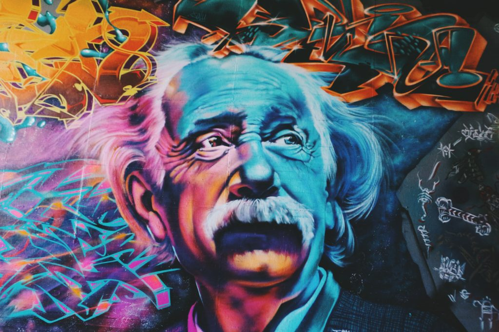 Einstein Graffiti