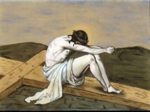 Bild von Jesus auf dem Kreuz