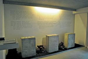 Wand mit Text