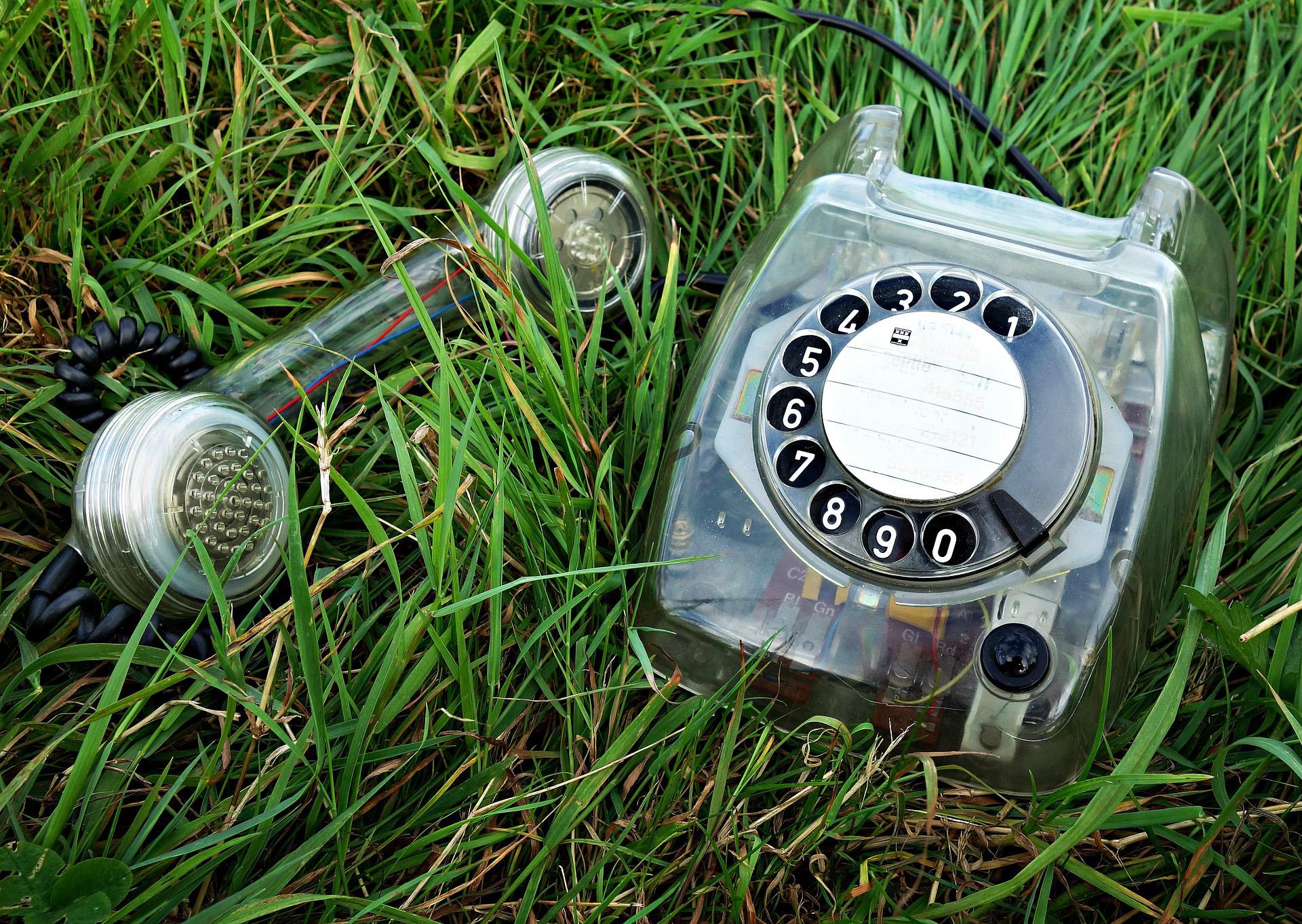 ein Telefon auf einer Wiese
