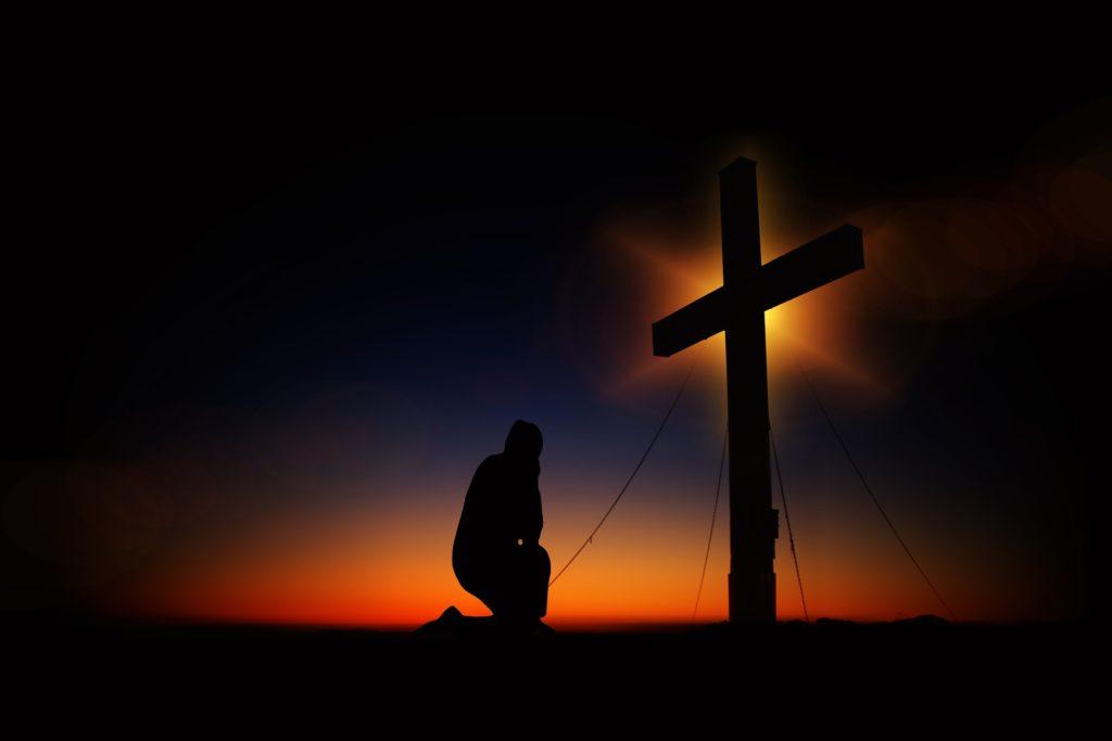 Kreuz mit Mensch
