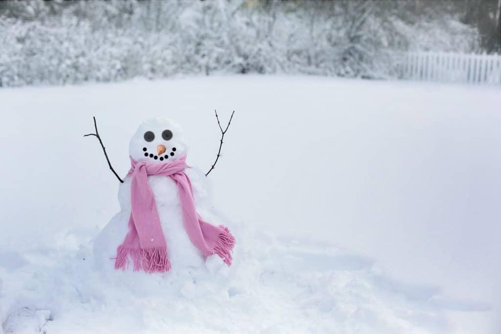 Schneemann im Schnee