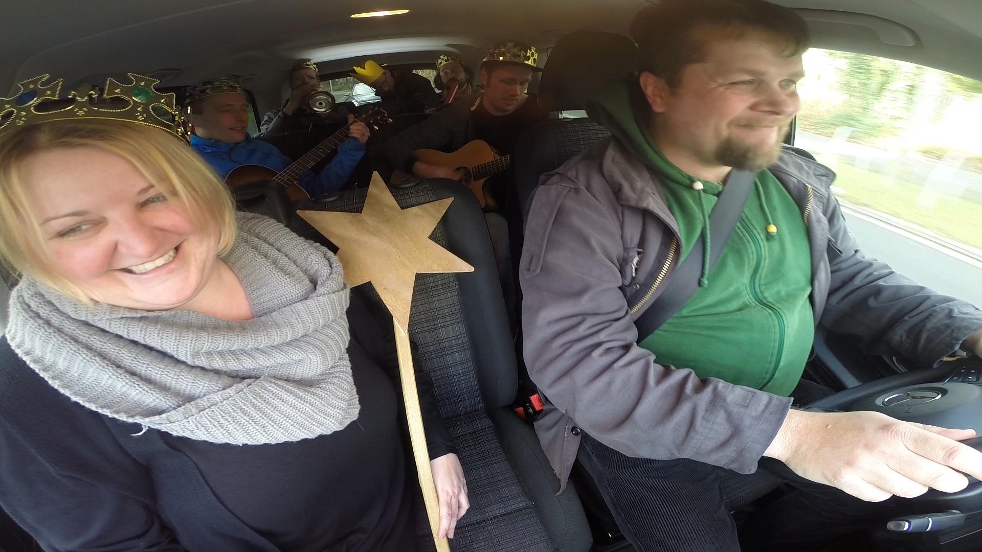 Sternsinger-Karaoke im Auto
