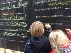 Before I die, Forum am Dom,