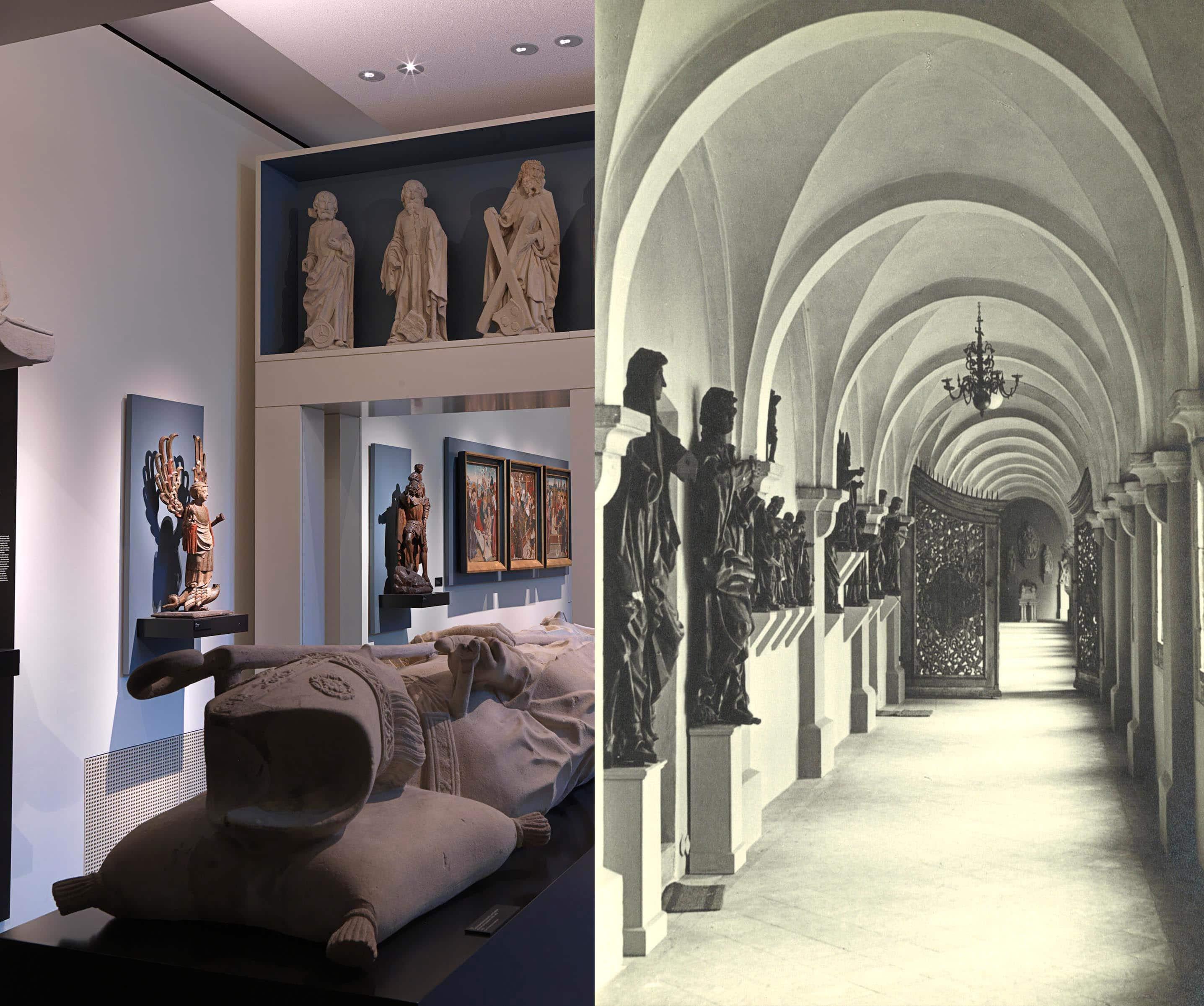 Das Museum heute und vor 100 Jahren