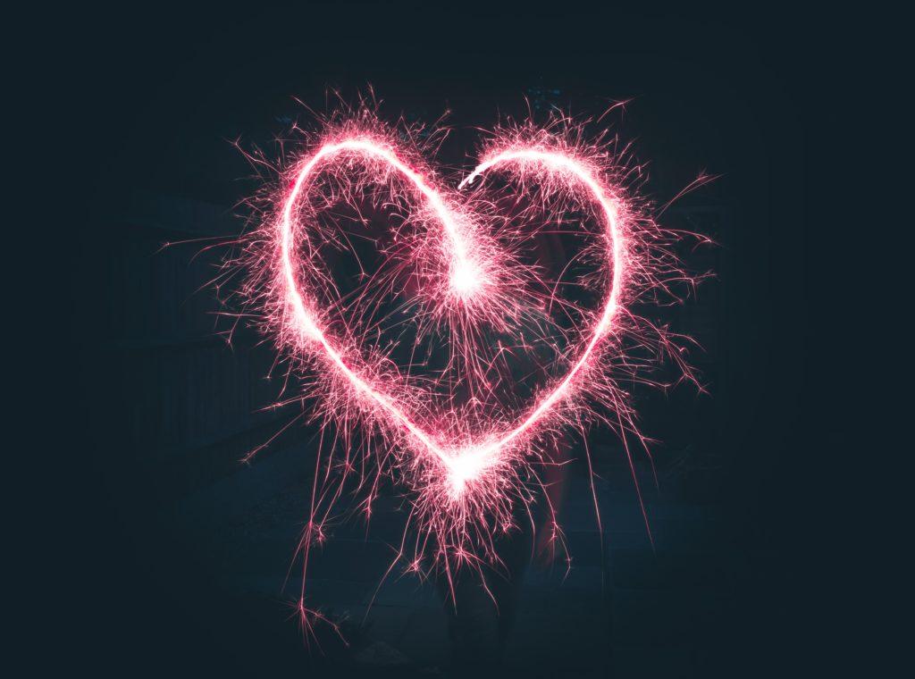Herz aus Funken