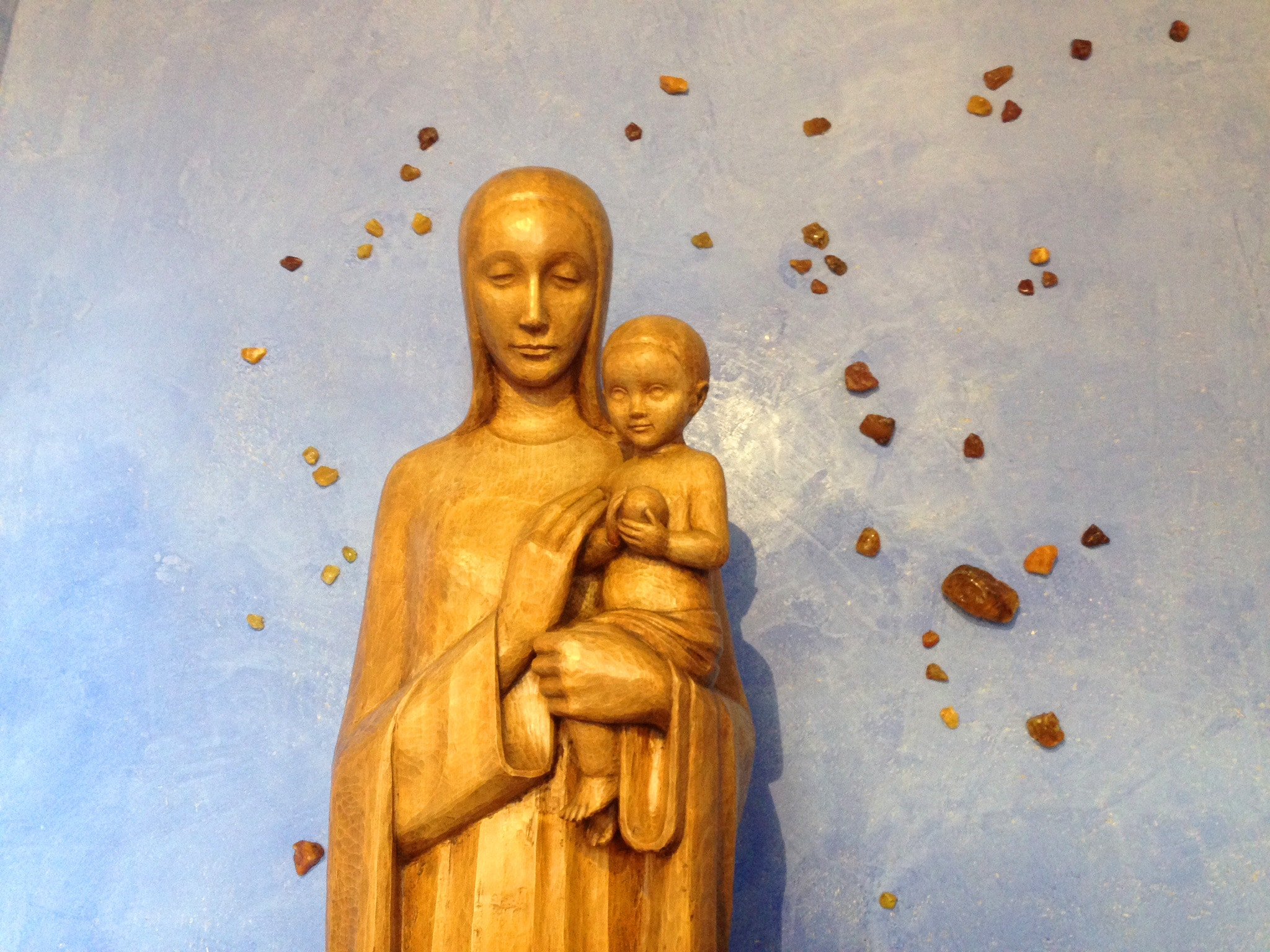 Marienfigur in der Kirche 'Zu den heiligen Schutzengeln' auf Juist
