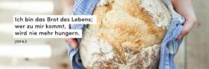 Brot mit Bibelzitat