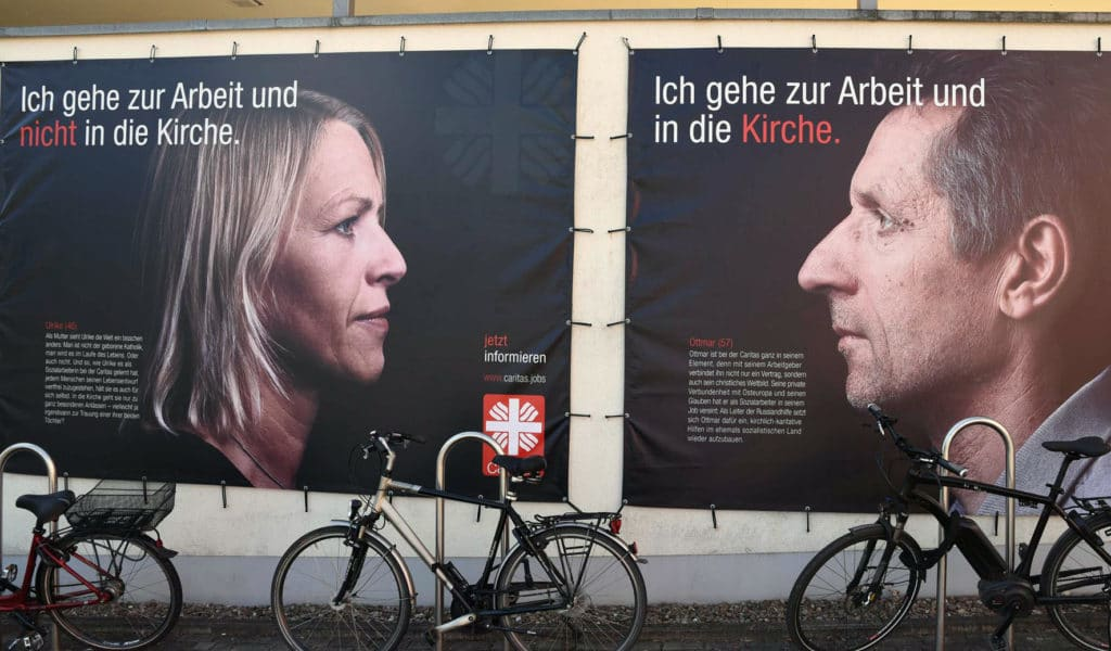 Plakate der Caritas-Kampagne