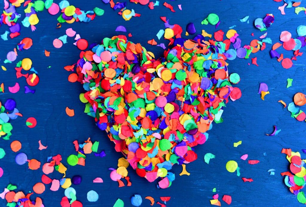 ein Herz aus Konfetti