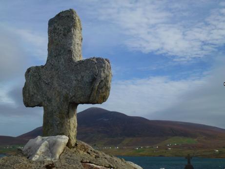 Steinkreuz auf Achill Island/Irland