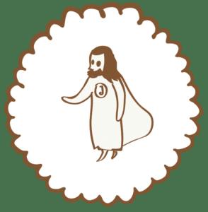 Jesusfigur gezeichnet