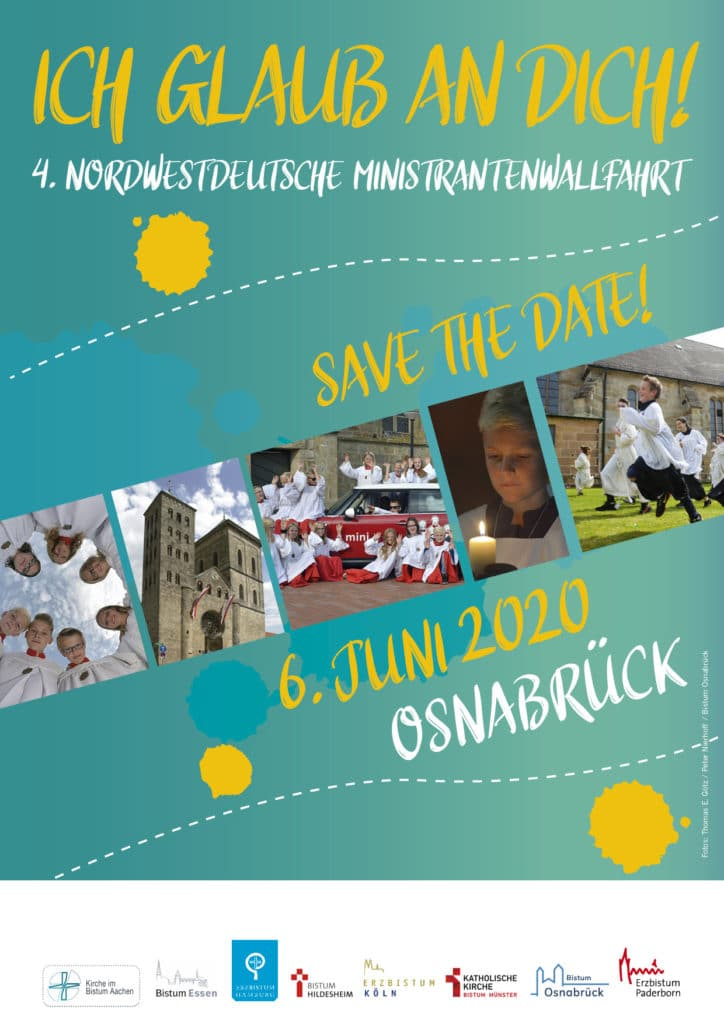 Plakat save the date Ministrantenwallfahrt