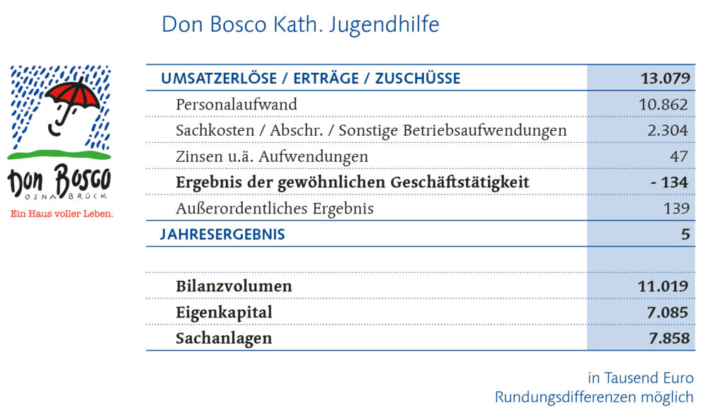 Don Bosco Finanzbericht