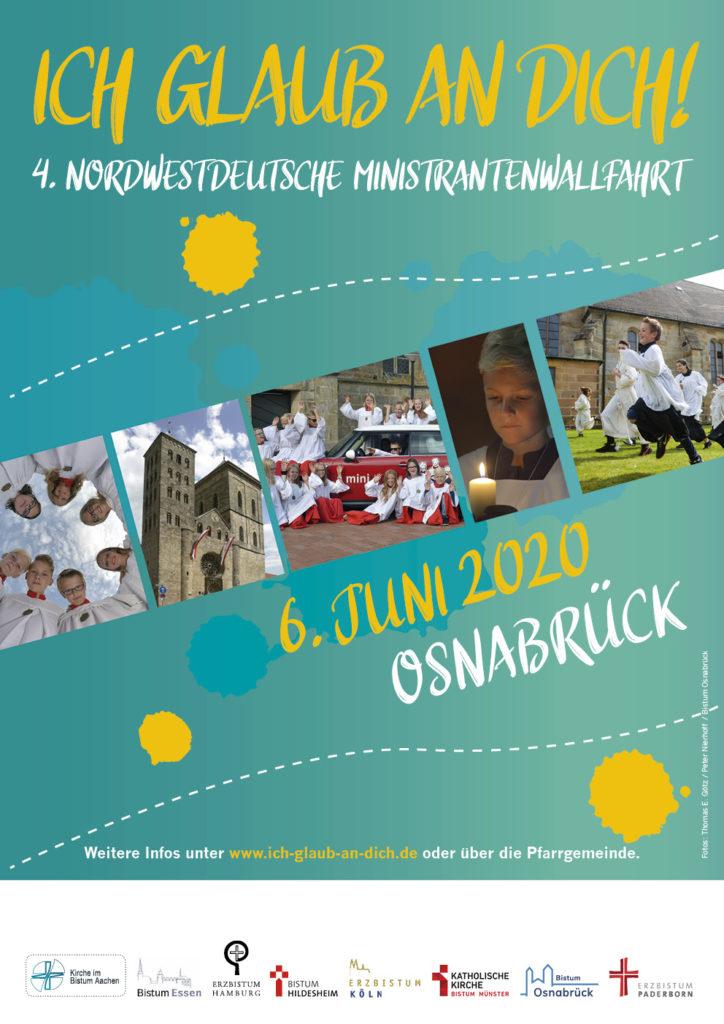 Plakat 4. Nordwestdeutsche Ministrantenwallfahrt