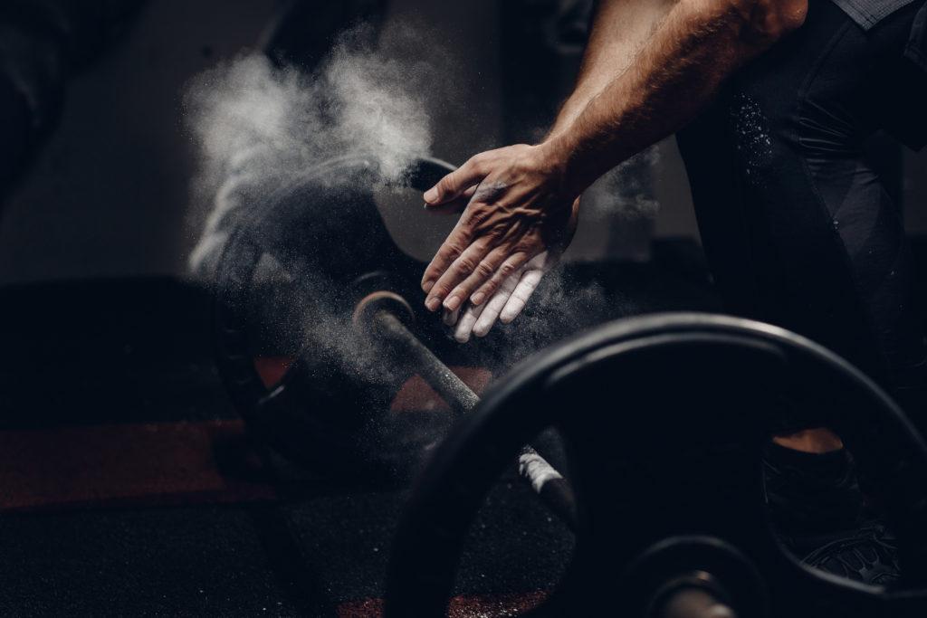 Hantel und Gewichtheber