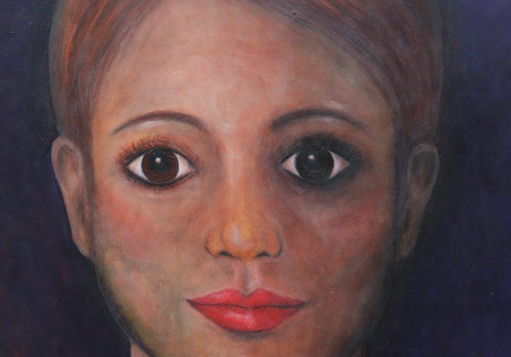 Ausschnitt eines Ausstellungsstückes von Ursula Roggow