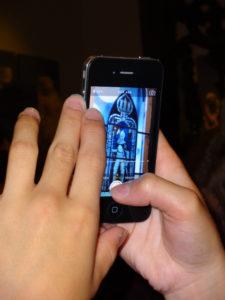 Samtphone mit Bild