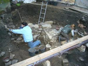 Ausgrabung am Osnabrücker Dom