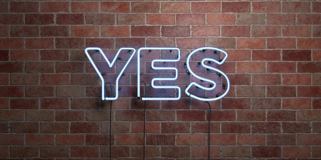 Leuchtbuchstaben yes