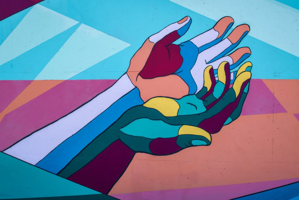 gemalte Hände