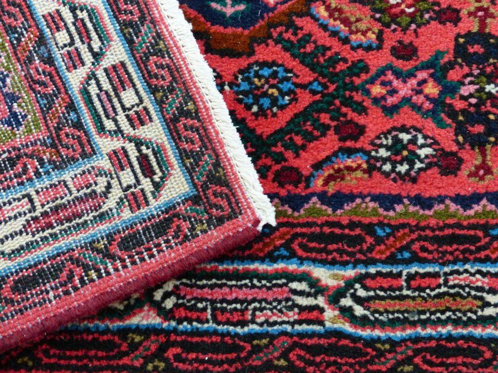 Teppich, Vorder- und Rückseite
