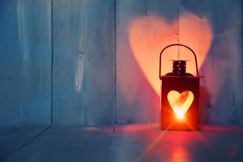 Laterne mit Herz