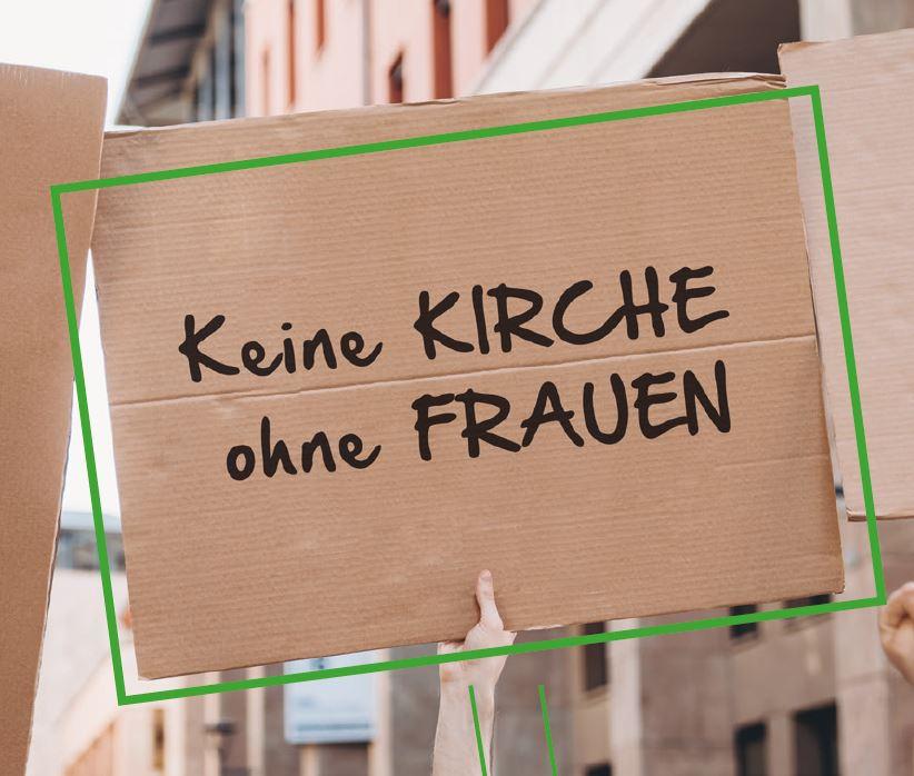 """Plakat """"Keine Kirche ohne Frauen"""""""