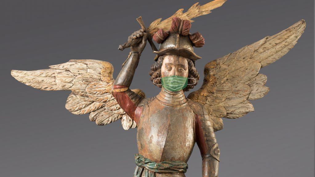 Engel mit Maske