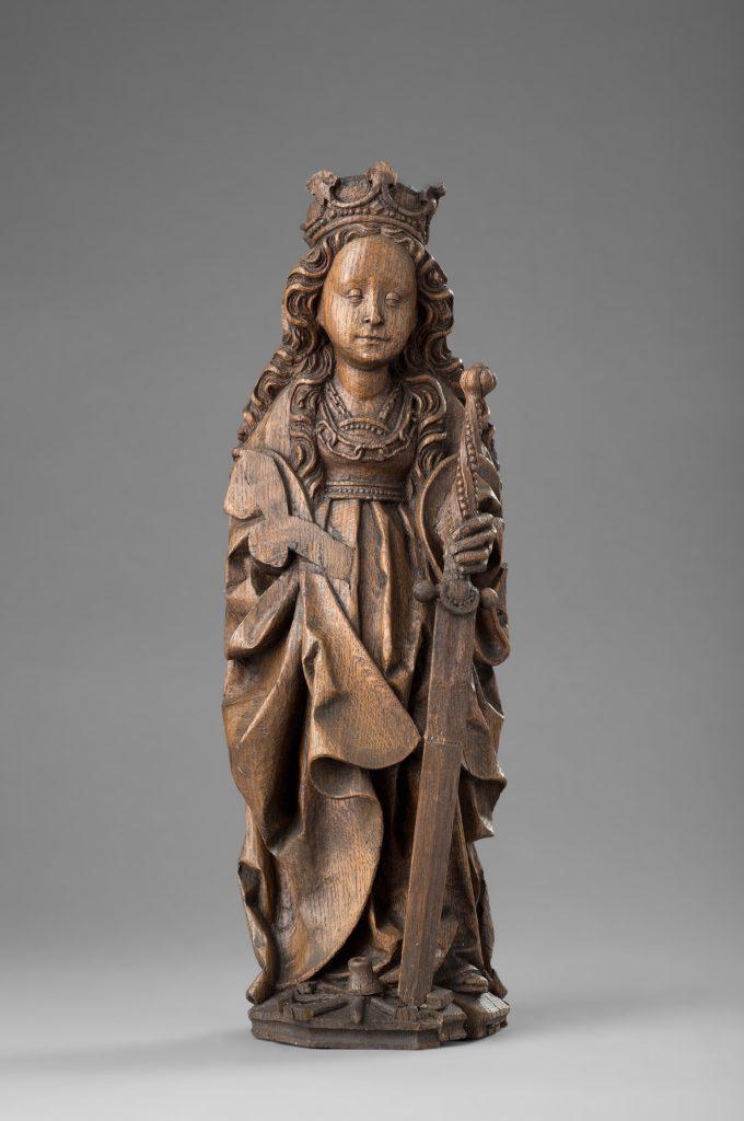 Die Statue der heiligen Katharina von Alexandrien