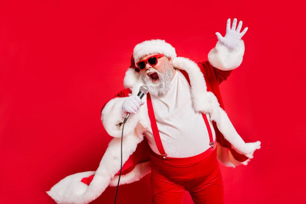 singender Weihnachtsmann