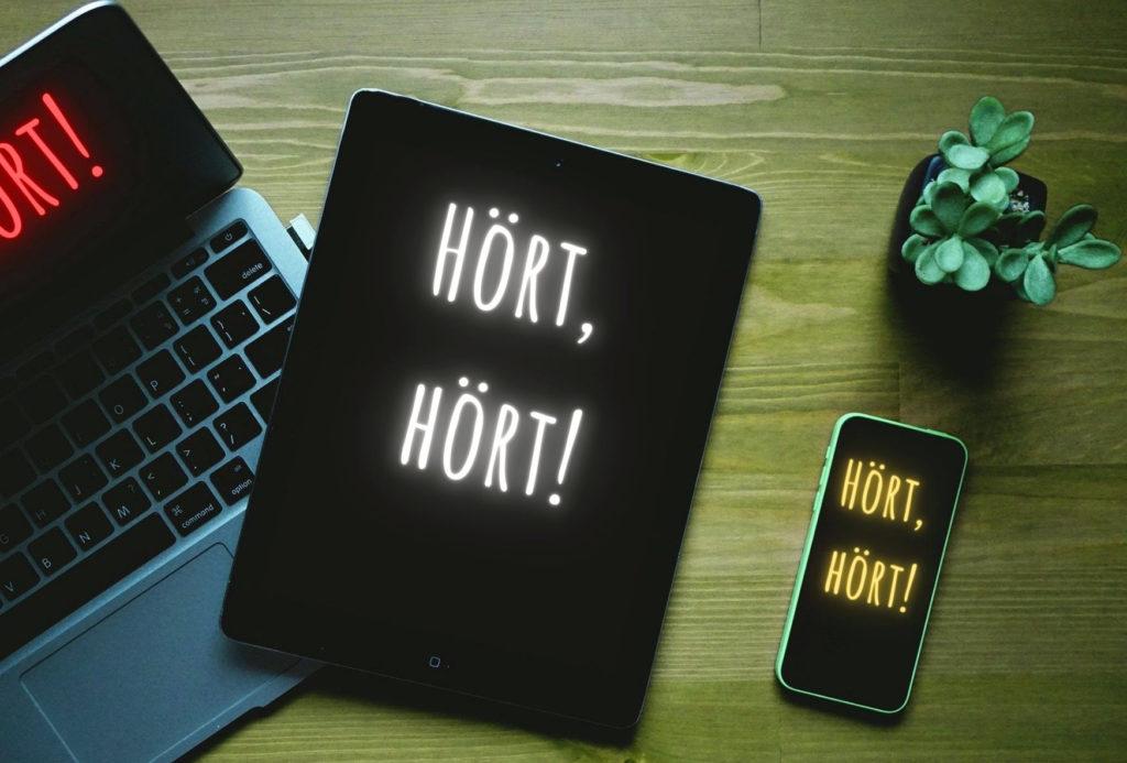 Computer, Tablet und Handy