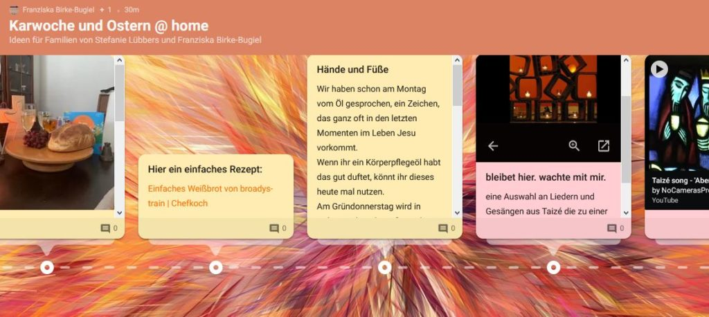 Screenshot Padlet Karwoche